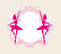 Beautiful ballerina - vintage frame Royalty Free Stock Photo