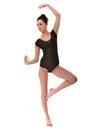 Beautiful ballet dancer modern style posing on studio background Stock Photography