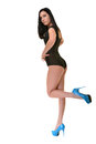 Beautiful ballet dancer modern style posing on studio background Stock Image