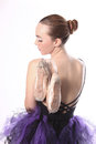 Beautiful Ballet Dancer Portrait Stock Image