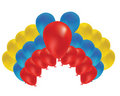 Beautiful balloon in the air. Vector illustration. Stock Photo