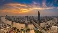 Beautiful of Bangkok aerial city view