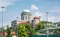 Beautiful basilica and water slide in the thermal spa and baths Royalty Free Stock Photo