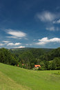 A beautiful bavarian landscape in germany Royalty Free Stock Images