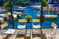 Beautiful bay with boats in Portofino, Liguria, Italy