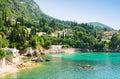 Beautiful bay in Paleokastritsa in Corfu island, Greece Royalty Free Stock Photo