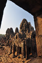 Beautiful bayon temple siem reap cambodia asia Stock Photos