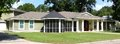 Beautiful beach area home in biloxi missis with a screened porch located across from the gulf of mexico along the front Stock Image