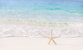 Beautiful beach background postcard with image of sea star on clear white sandy coastline day spa luxury summer vacation concept Stock Photography