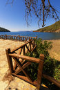 Beautiful beach in the bay. Turkey Royalty Free Stock Photo