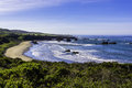Beautiful beach on the big sur highway and coastline california central coast near cambria ca Stock Images