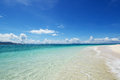 Beautiful beach and blue sky of okinawa Royalty Free Stock Photos