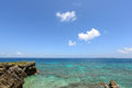 Beautiful beach and blue sky of okinawa Stock Images