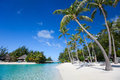 Beautiful beach on bora bora island in french polynesia Stock Photo