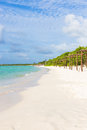 Beautiful beach at coco key in cuba cayo a natural landmark of the island Royalty Free Stock Images