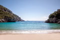 Beautiful beach in corfu of island greece Stock Images