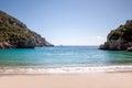 Beautiful beach in corfu of island greece Stock Images