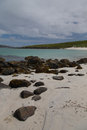 Beautiful beach on the Isle of Barra Stock Images