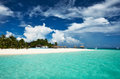 Beautiful beach at maldives island Royalty Free Stock Photos