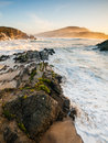 Beautiful beach in meiras galicia spain a place the north of Stock Images