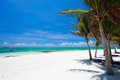 Beautiful beach in Mexico Royalty Free Stock Photo