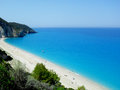Beautiful beach milos lefkada island near agios nikitas Royalty Free Stock Images