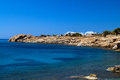 Beautiful beach on mykonos island greece Royalty Free Stock Image