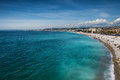 Beautiful Beach Of Nice, France