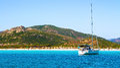 The beautiful beach of Porto Taverna, on the east coast of Sardi Royalty Free Stock Photo