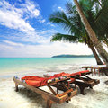 Beautiful beach and relax time Royalty Free Stock Photo