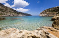 Beautiful beach at Rhodes, Greece Royalty Free Stock Image