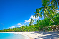 Beautiful beach in Saint Lucia Stock Images