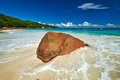 Beautiful beach at seychelles praslin anse lazio Stock Photography