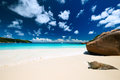Beautiful beach at seychelles praslin anse lazio Royalty Free Stock Photo