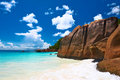 Beautiful beach at seychelles praslin anse lazio Stock Photo