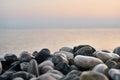 The beautiful beach of stones. Macro