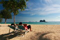Beautiful beach in thailand at trang Stock Photography