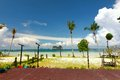 Beautiful beach in thailand at trang Stock Image