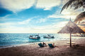 Beautiful beach tropical in malaysia Royalty Free Stock Photography