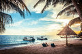 Beautiful beach tropical in malaysia Royalty Free Stock Photos