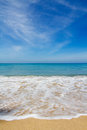 Beautiful beach, Vertical Royalty Free Stock Images