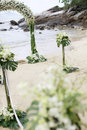 Beautiful beach wedding set-up. Stock Images