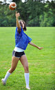 Beautiful biracial female soccer player Royalty Free Stock Images