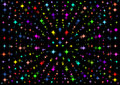 A beautiful black background with colorful stars Royalty Free Stock Photo