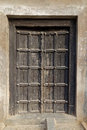 Beautiful Black Indian Wood Door Royalty Free Stock Photo