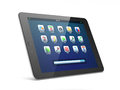 Beautiful black tablet pc on white background Royalty Free Stock Photos