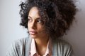 Beautiful black woman looking away Royalty Free Stock Photo