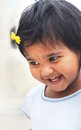 Beautiful and blissful indian baby girl smiling Stock Image