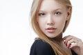 Beautiful blond teen girl portrait Royalty Free Stock Photo