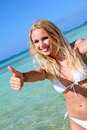 Beautiful blond woman wearing bikini Royalty Free Stock Photo